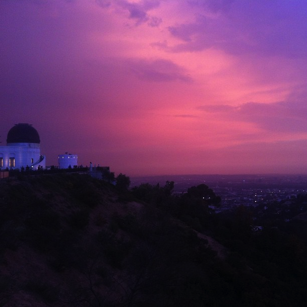 los angeles sunset griffith park observatory